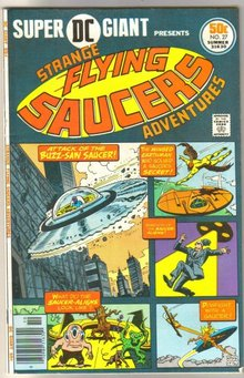 Super DC Giant #27 presents Strange Flying Saucers Adventures comic book fine 6.0