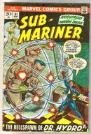 Sub-Mariner #61 comic book very good/fine 5.0