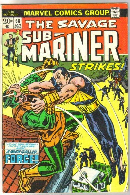 Sub-Mariner #68 comic book very good/fine 5.0