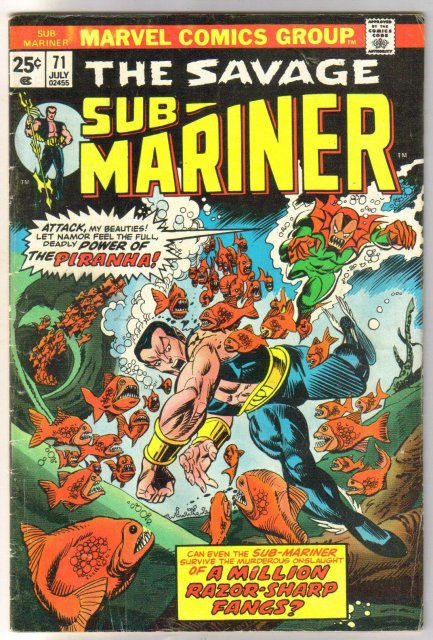 Sub-Mariner #71 comic book very good/fine 5.0