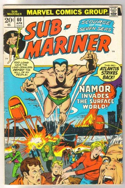 Sub-Mariner #60 comic book fine 6.0