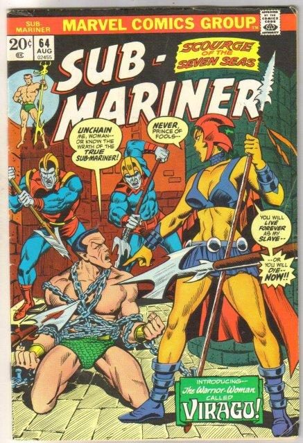 Sub-Mariner #64 comic book fine/very fine 7.0