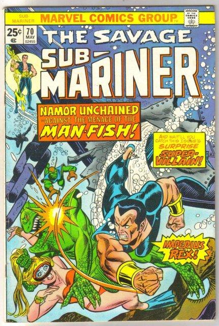 Sub-Mariner #70 comic book very fine 8.0
