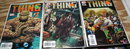 The Thing issues 1, 5, and 8 comic book assortment