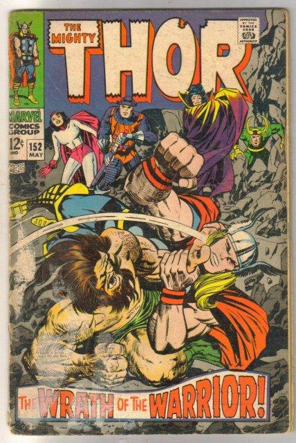 The Mighty Thor #152 comic book fair 1.5