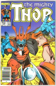 The Mighty Thor #348 comic book mint 9.8