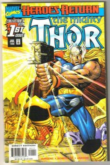 The Mighty Thor #1 Heroes Return comic book mint 9.8