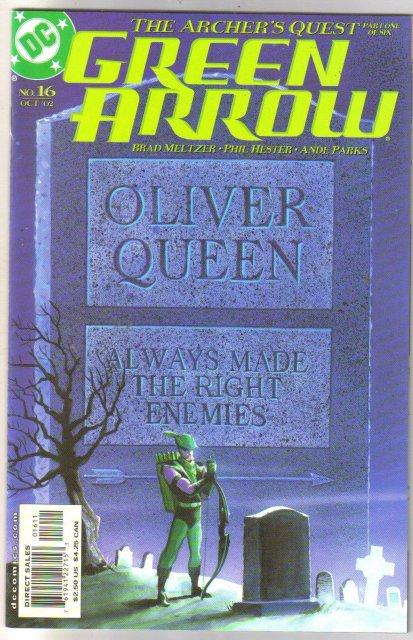 Green Arrow #16 comic book mint  9.8