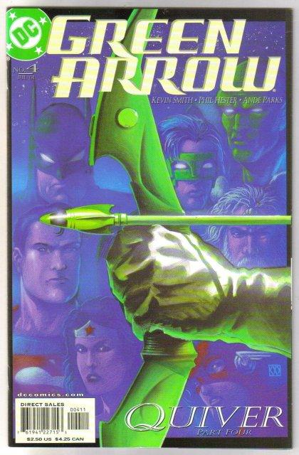 Green Arrow #4 comic book mint plus 9.9