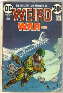 Weird War Tales #14 comic book very good 4.0