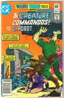 Weird War Tales #115 comic book fine 6.0