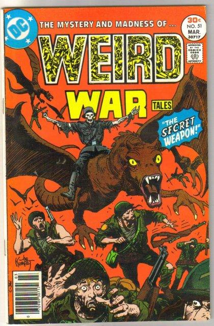 Weird War Tales #51 comic book near mint 9.4
