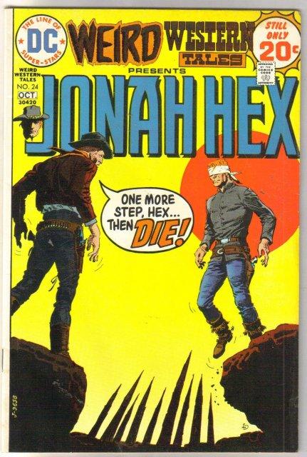Weird Western Tales #24 presents Jonah Hex comic book fine/very fine 7.0