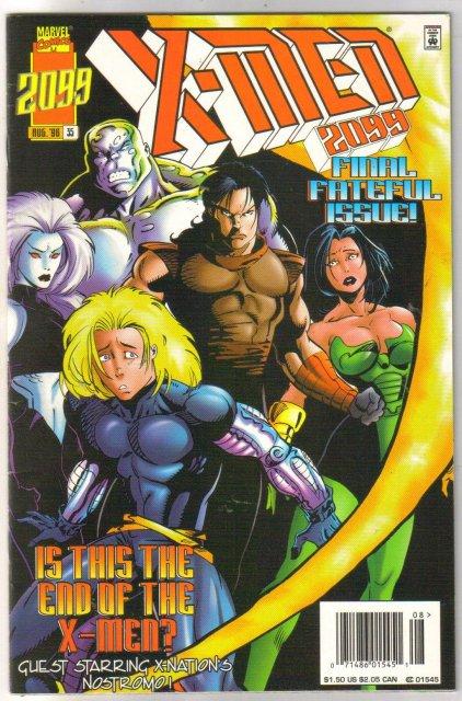 X-Men 2099 #35 comic book very fine/near mint 9.0