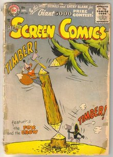 Real Screen Comics featuring the Fox and the Crow  #102 comic book poor 1.0