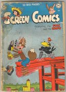 Real Screen Comics featuring the Fox and the Crow  #28 comic book poor 1.0