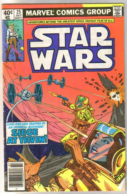 Star Wars #25 comic book very good 4.0