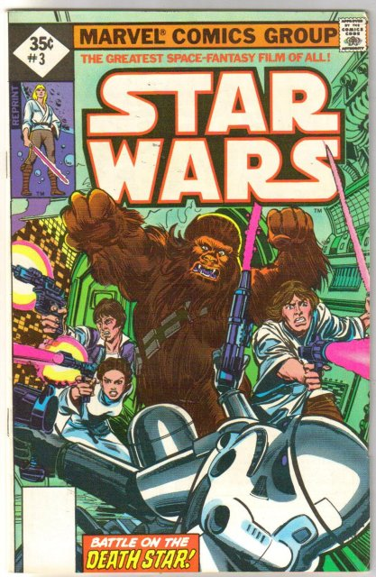 Star Wars #3 reprint comic book very fine 8.0