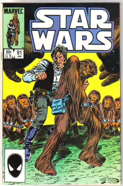 Star Wars #91 comic book near mint 9.4