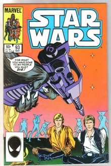 Star Wars #93 comic book near mint 9.4
