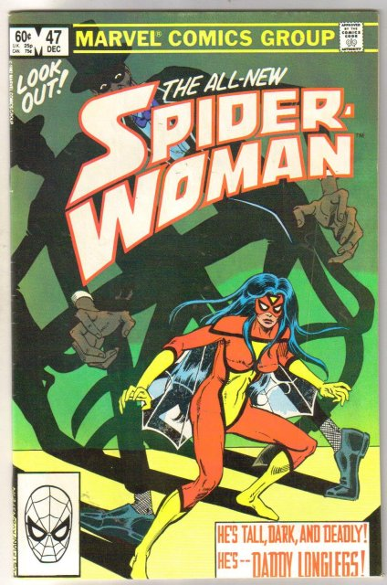 Spider-woman #47 comic book very good/fine 5.0
