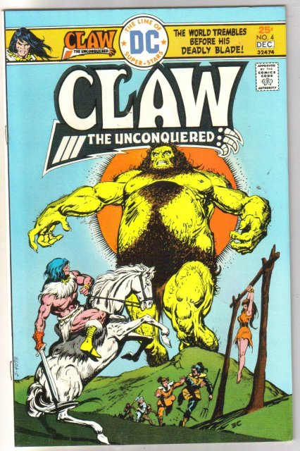 Claw the Unconquered #4 comic book near mint 9.4
