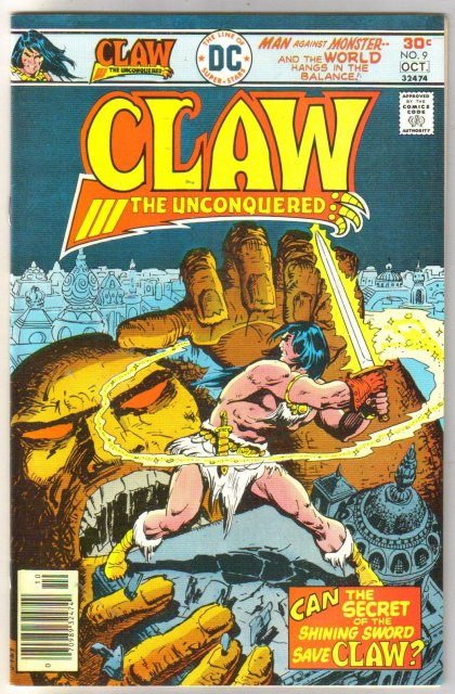 Claw the Unconquered #9 comic book near mint 9.4
