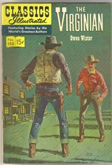 Classics Illustrated #150 hrn#150 The Virginian by Owen Wister comic book very good/fine 5.0