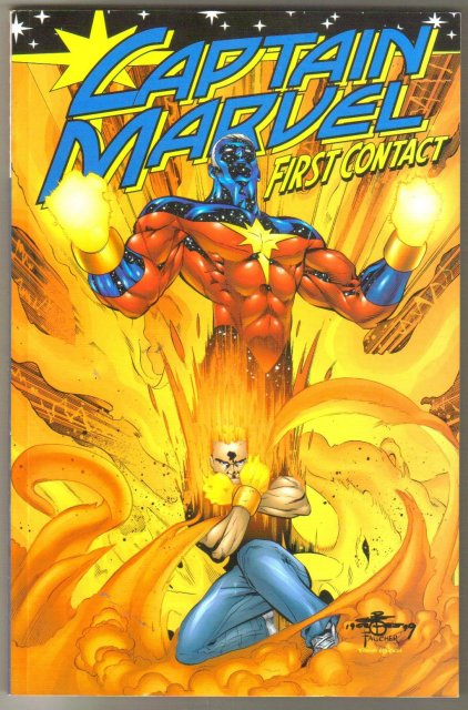 Captain Marvel First Contact trade paperback brand new mint