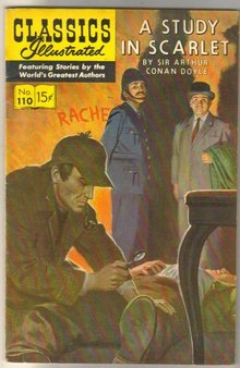 Classic Illustrated #110 hrn#165 A Study in Scarlett by Sir Arthur Conan Doyle comic book fine/very fine 7.0