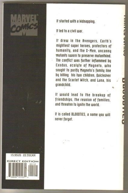 Avengers/X-Men Bloodties trade paperback brand new mint