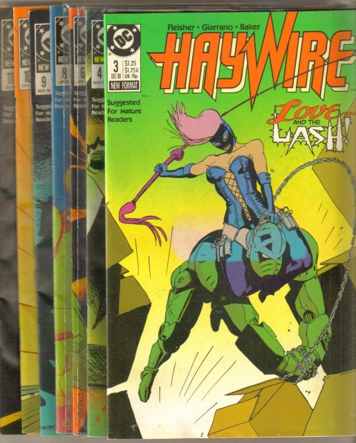 Haywire comic book collection of 9 different issues