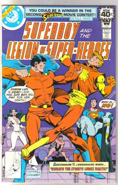Superboy and the Legion of Super-Heroes Whitman variant #248 comic book near mint 9.4