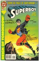 Superboy #1 (1994 series) signed by Karl Kesel and Doug Hazelwood comic book