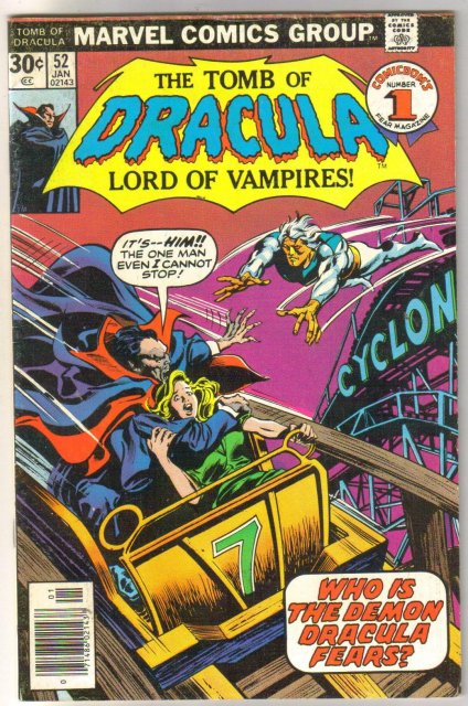 Tomb of Dracula #52 comic book fine 6.0
