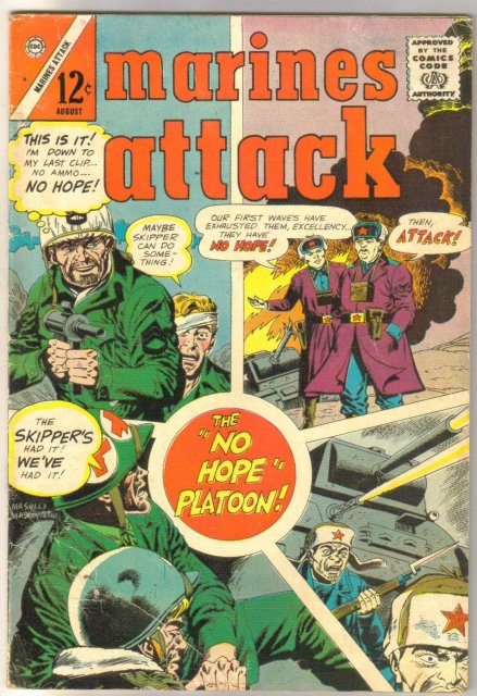 Marines Attack #6 comic book fine minus 5.5