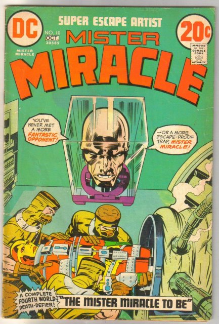Mister Miracle #10 comic book very good 4.0