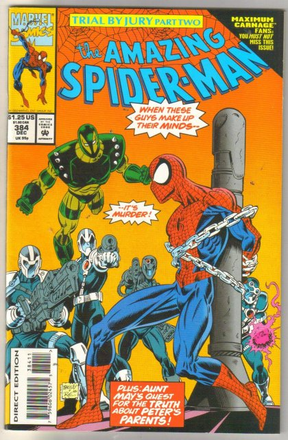 wholesale Amazing Spider-man #384 near mint to mint 85 cents each