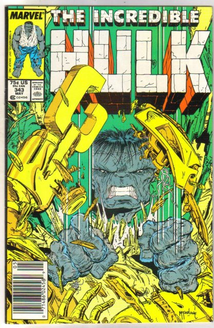 Incredible Hulk #343 comic book near mint 9.4