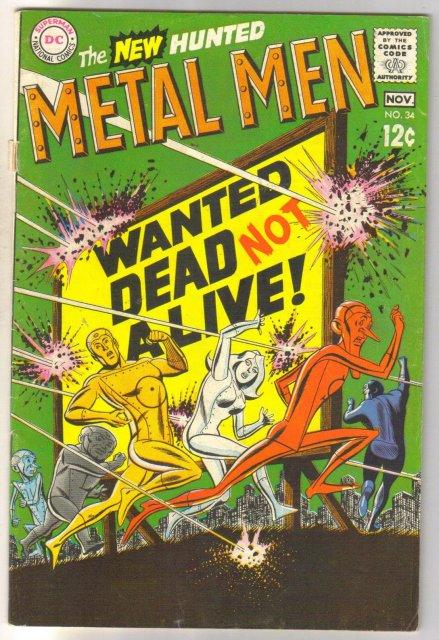 Metal Men #34 comic book very good/fine 5.0 4.0