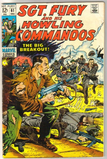 Sgt. Fury and his Howling Commandos #61 comic book fine 6.0