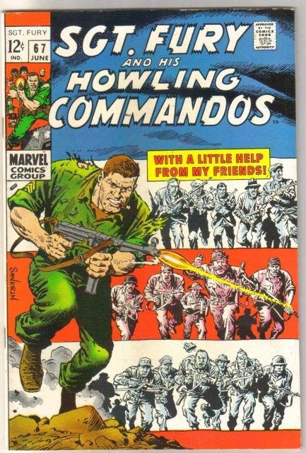 Sgt. Fury and his Howling Commandos #67 comic book fine/very fine 7.0