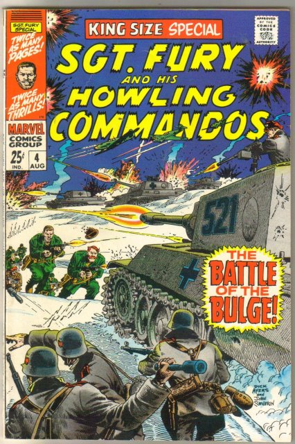 Sgt. Fury and his Howling Commandos King Size Special #4 comic book fine/very fine 7.0