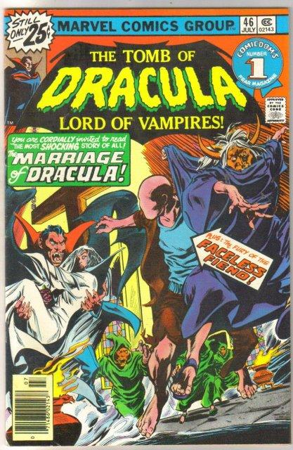 The Tomb of Dracula #46 comic book very fine/near mint 9.0