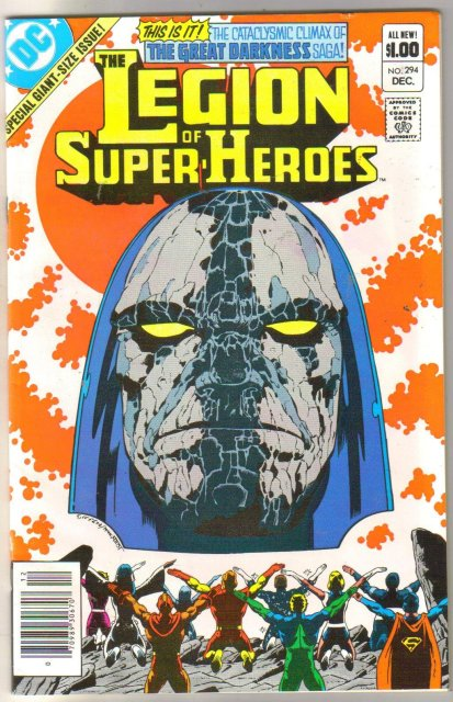 The Legion of Super-Heroes #294 comic book near mint 9.4