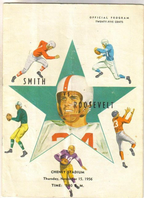Smith versus Roosevelt 1956 football program (Atlanta high schools)