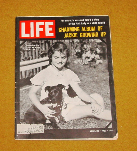 Life magazine Jackie Kennedy growing up album April 26, 1963