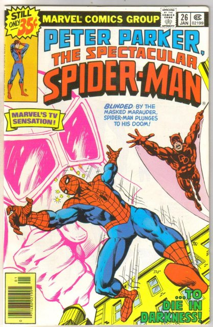 Peter Parker, Spectacular Spider-man #26 comic book near mint 9.4
