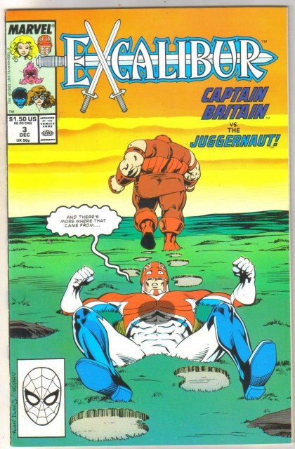 Excalibur #3 comic book near mint 9.4