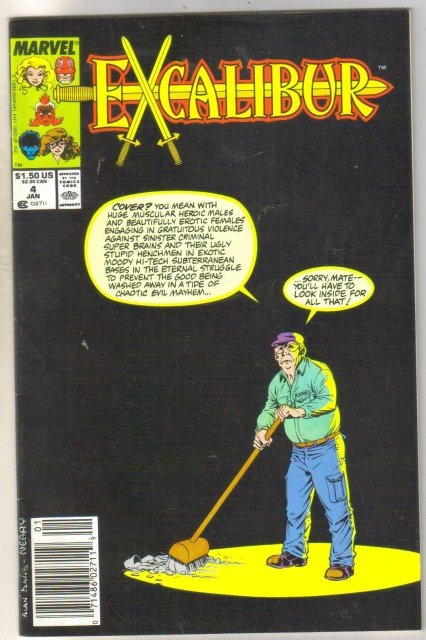 Excalibur #4 comic book near mint 9.4